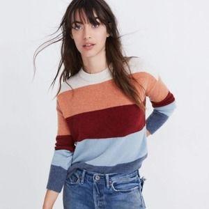 [Madewell] Crofton Rainbow Stripe Pullover Sweater